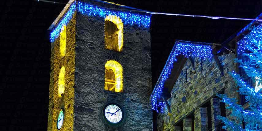 Iglesia y luces led - Luces navidenas solares ...